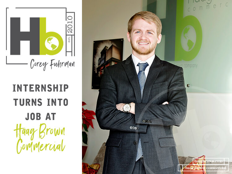 Internship Turns Into Job at Haag Brown Commercial