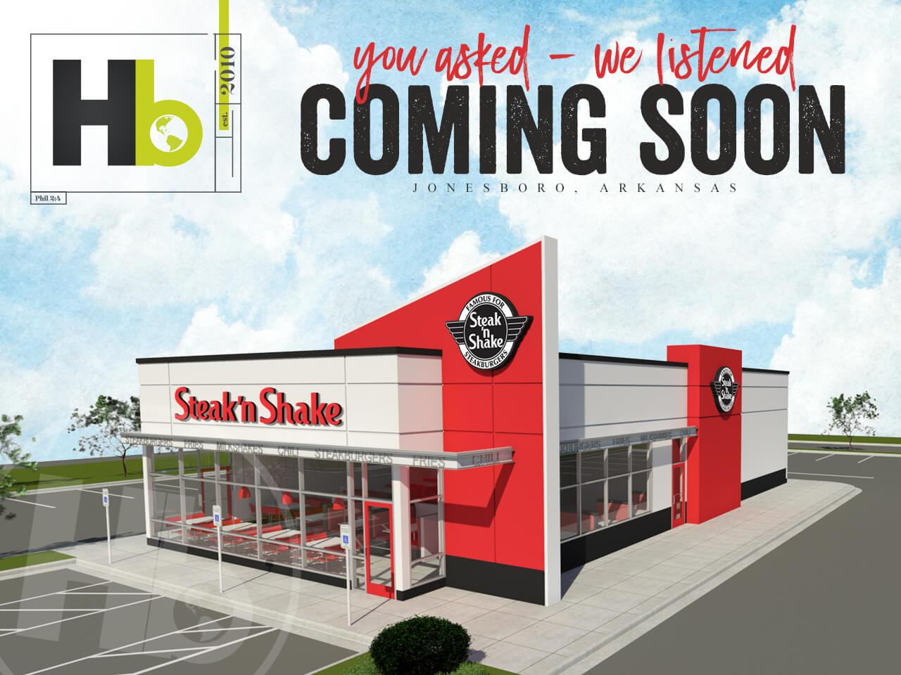 HB Announces Steak 'n Shake Coming to Jonesboro