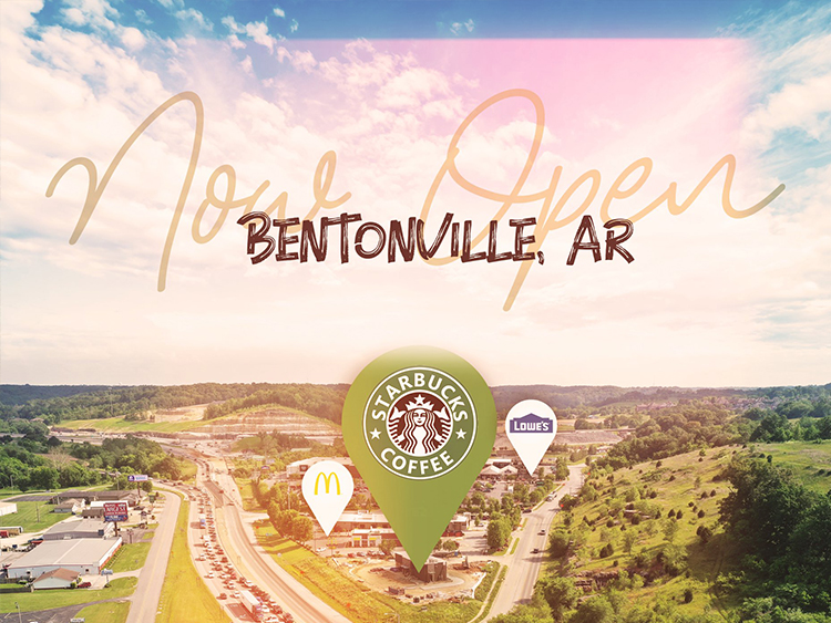 Now Open – Starbucks, Bentonville